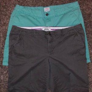 3 pairs women's gap shorts size 16 Bermuda khaki